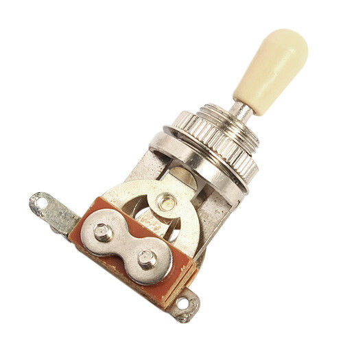 guitar 3 way toggle switch pickup selector w cream tip for les paul parts ebay. Black Bedroom Furniture Sets. Home Design Ideas