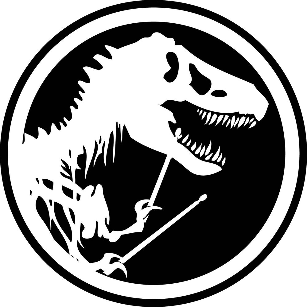 Drum Drumming JURASSIC PARK Decal