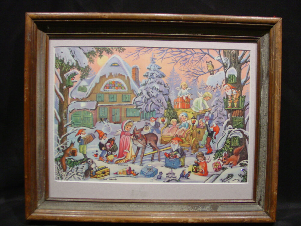 Art Advent Calendar : Vintage new never used countdown to christmas advent