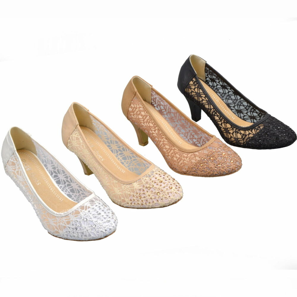 neu luxus spitze strass pumps brautschuhe hochzeit. Black Bedroom Furniture Sets. Home Design Ideas