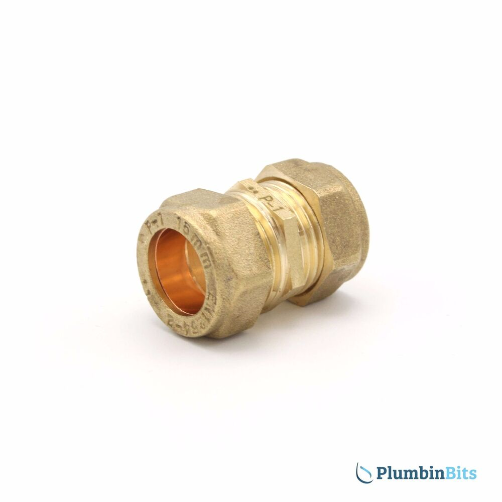 Compression mm brass straight coupler connector fitting