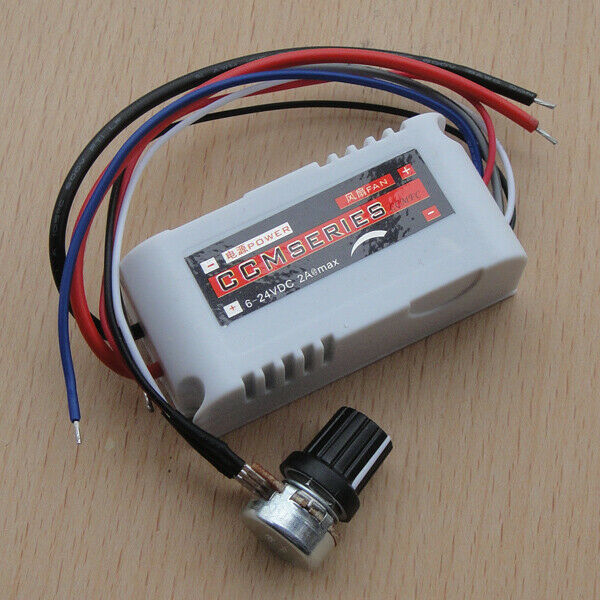 Dc motor speed switch controller 12v 2a control reversible for Two speed motor control