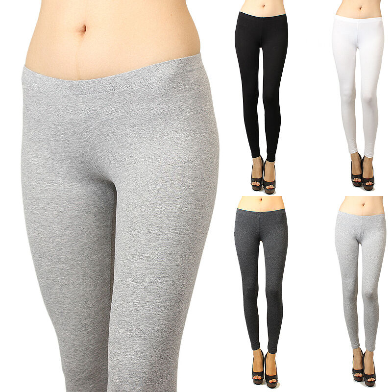 Iuile basic solid skinny fit stretch cotton full length leggings s 3x