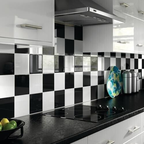 Kitchen Wall Tiles India Designs: 20 X Bathroom Kitchen Vinyl Tile Stickers Covers Self