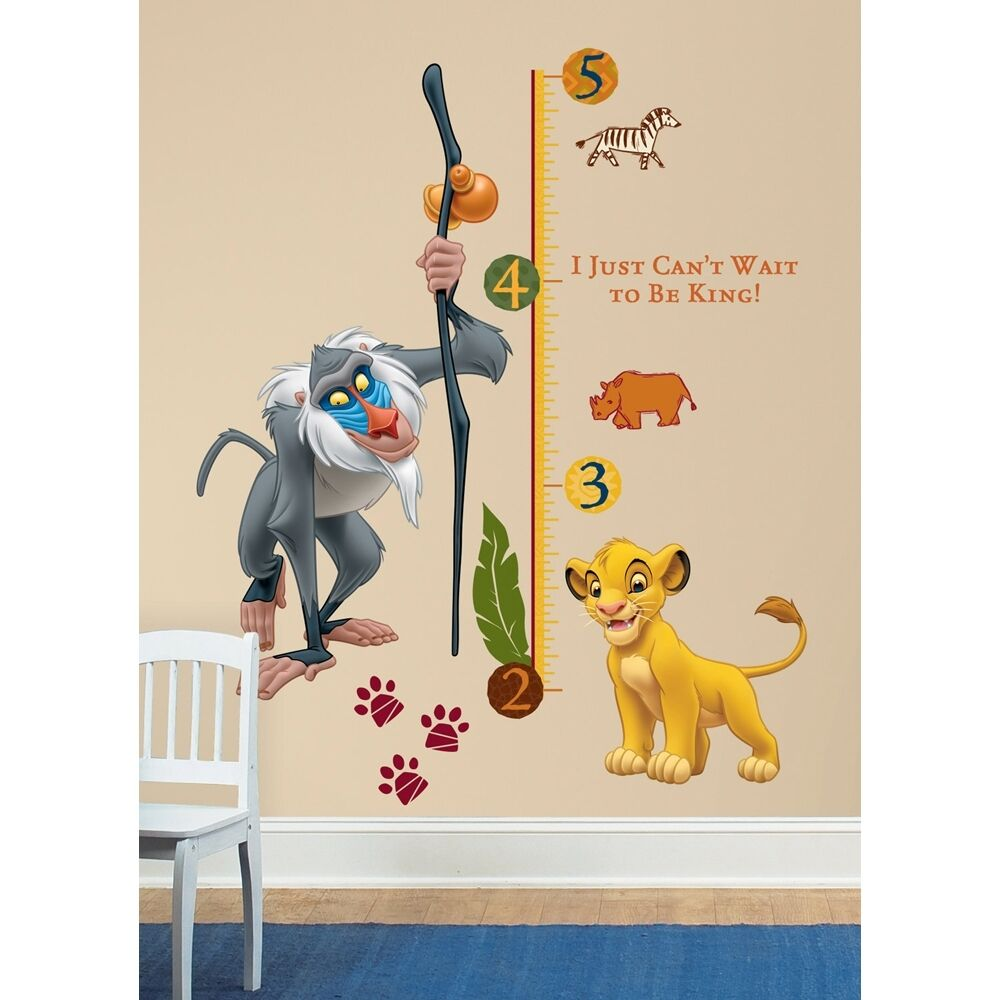new lion king giant wall decals kids growth chart bedroom decor room decorations ebay. Black Bedroom Furniture Sets. Home Design Ideas