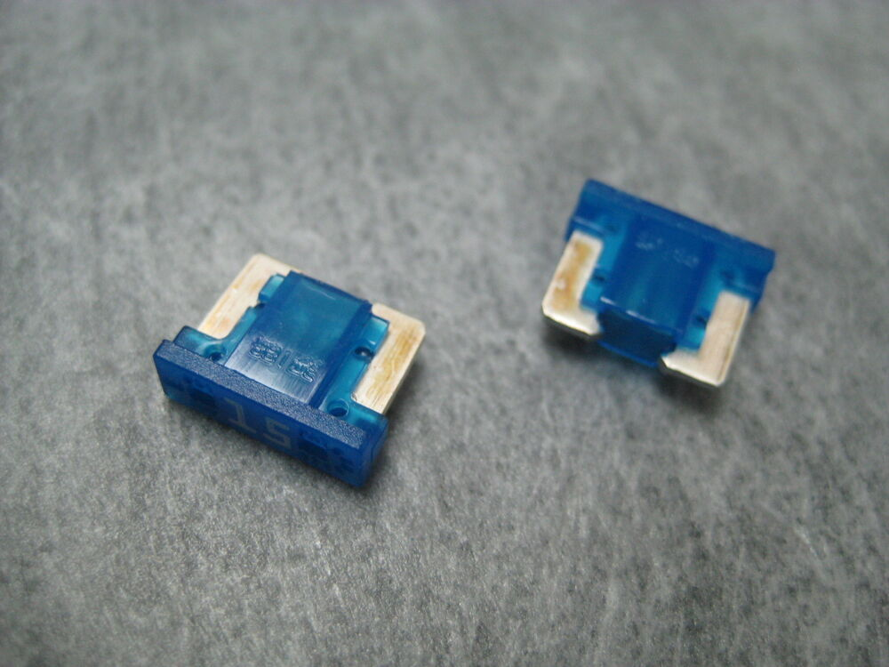 15a 15amp Lmin15 Low Profile Mini Fuse  Blue  Littelfuse Pack Of 2