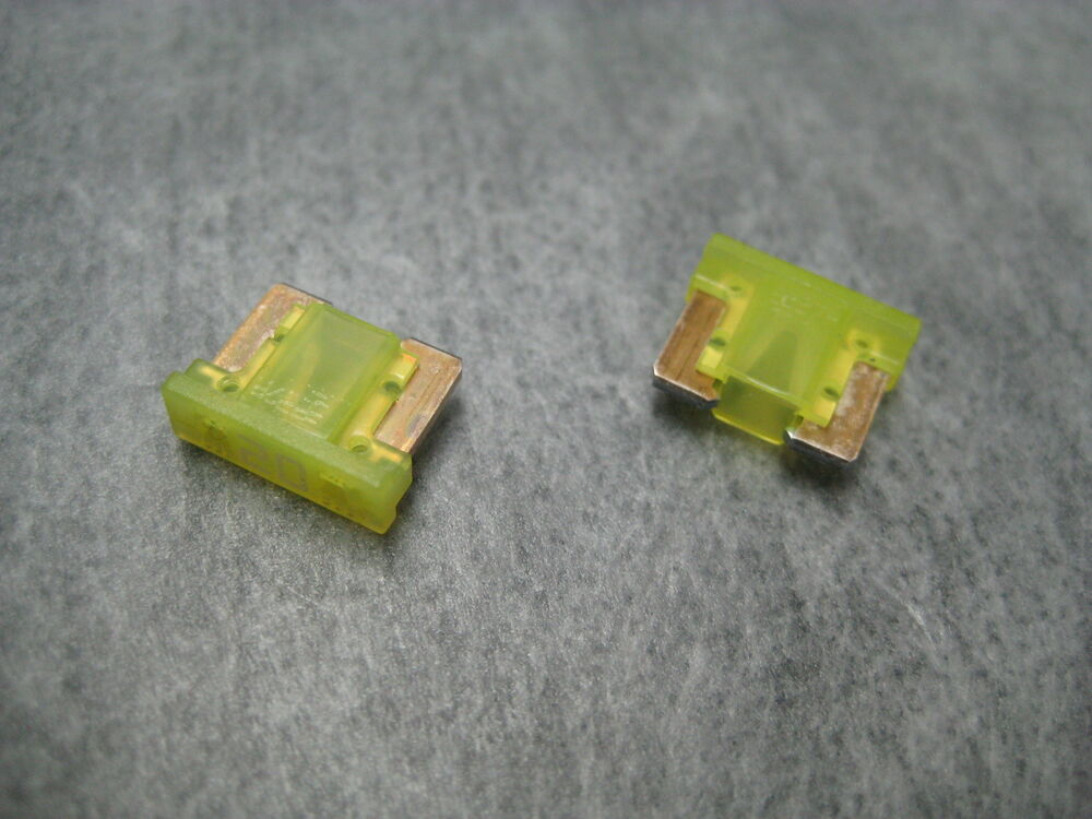 20a 20amp Lmin20 Low Profile Mini Fuse  Yellow  Littelfuse Pack Of 2 Ships Fast  79458093391