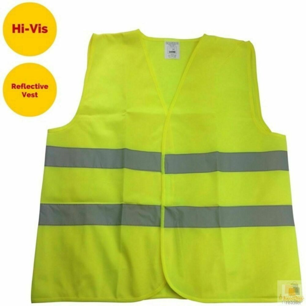 Hi vis safety vest reflective tape workwear yellow one for Hi vis shirts with reflective tape