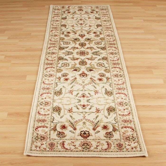 100%Wool QUALITY CREAM RED Floral Traditional Persian