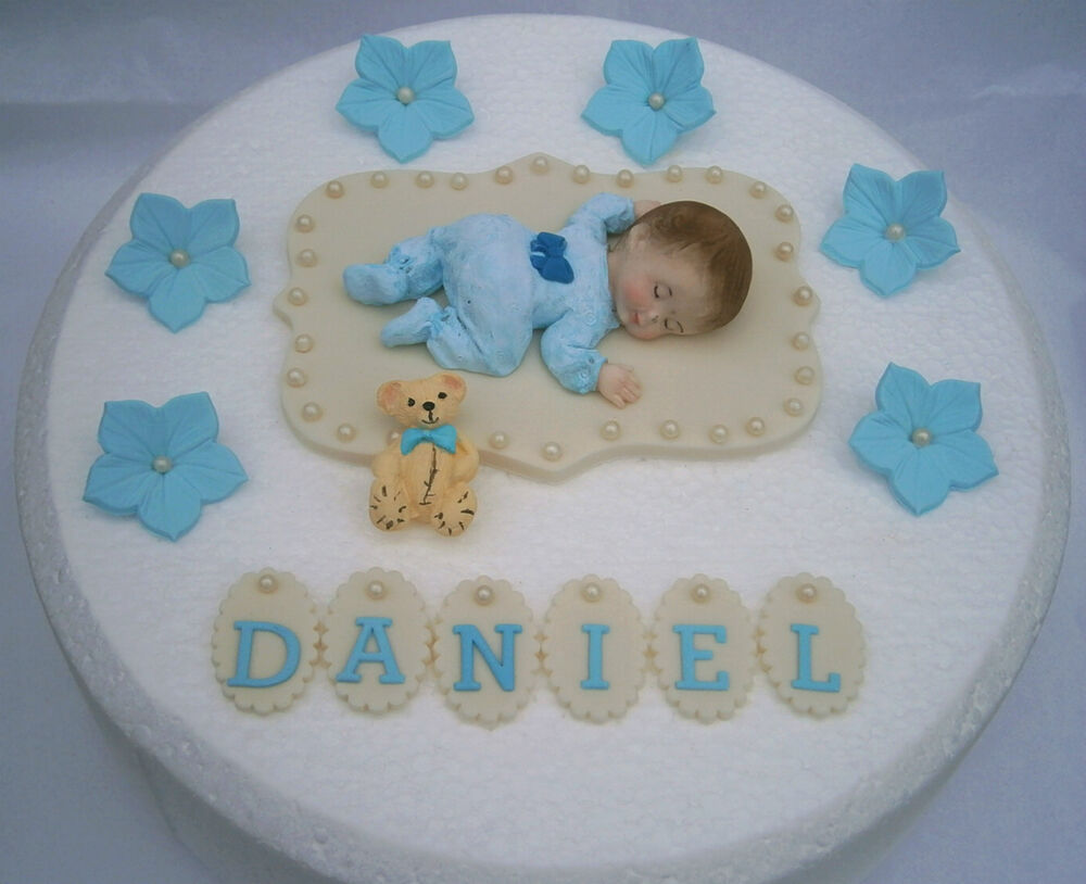 Edible Personalised Baby Boy 1st Birthday Cake Topper Decoration