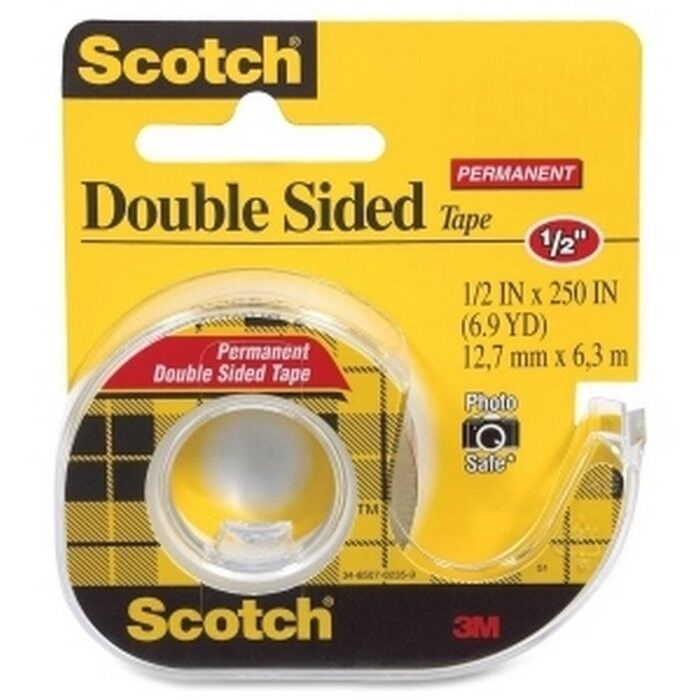 12 packs scotch 3m tape double sided stick utility tape 1. Black Bedroom Furniture Sets. Home Design Ideas