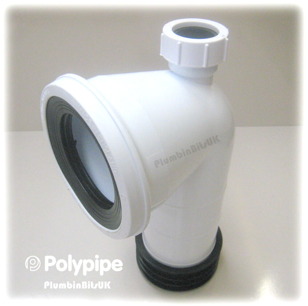 Polypipe sk kwickfit toilet bent pan connector degree