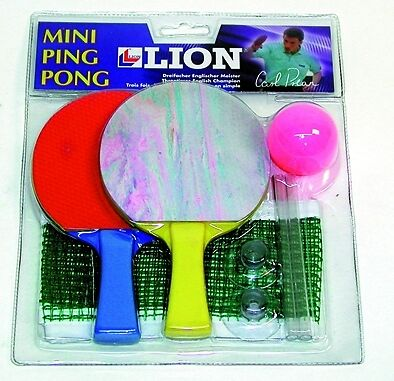 Mega sale lion mini table tennis kit ping pong set 3 for Small ping pong balls