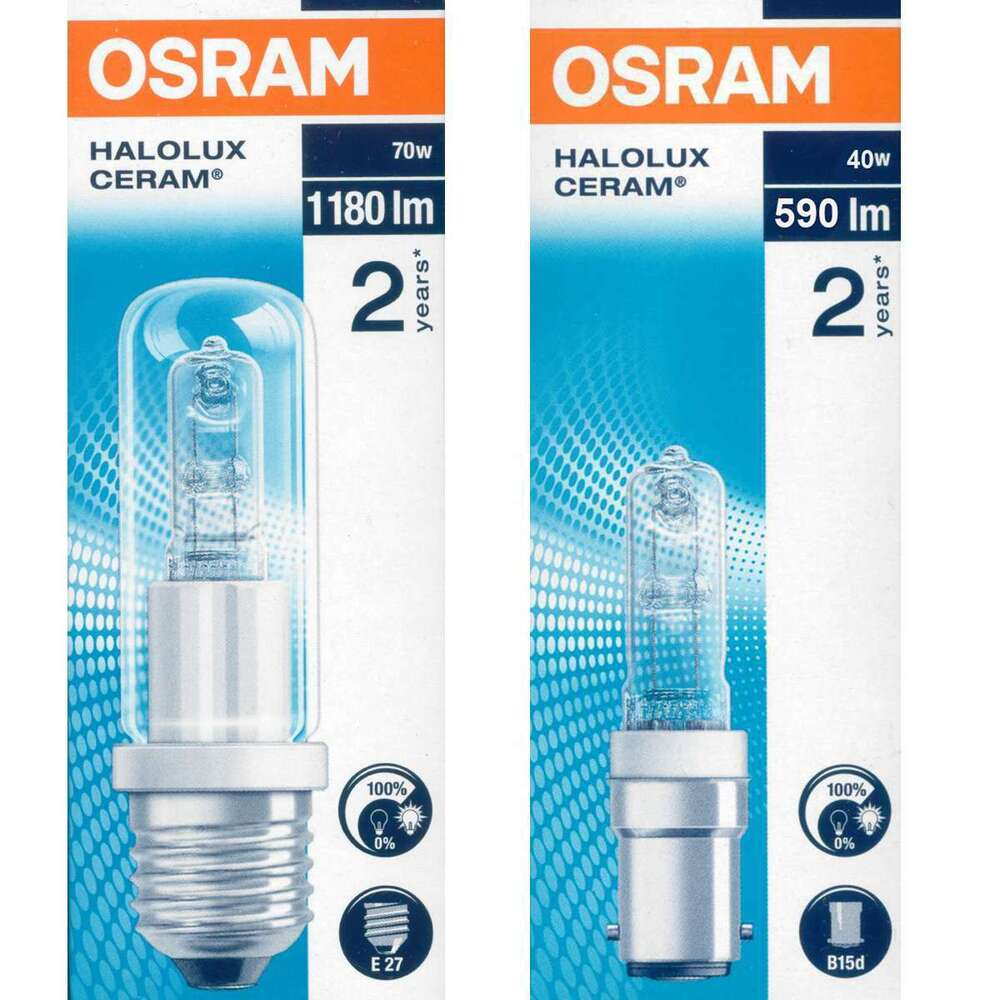 osram halolux ceram 230v sockel b15d e27 halogen r hrenlampe halogenlampe ebay. Black Bedroom Furniture Sets. Home Design Ideas