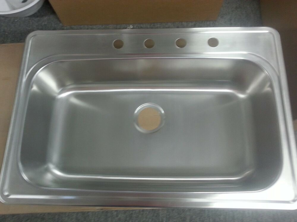 Blanco Top Mount Kitchen Sinks : Blanco Spex 517543 / 441268 Stainless Top Mount.Single Bowl Kitchen ...
