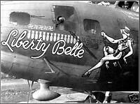 Photo: Nose Art: Liberty Belle, B-17 Bomber, WWII