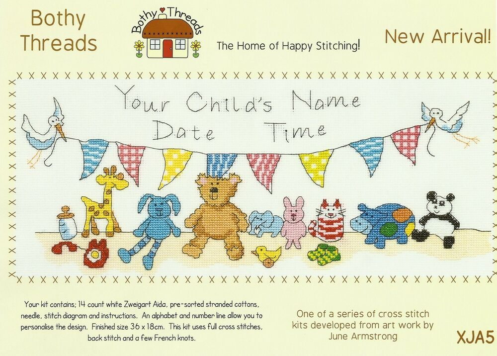 Bothy Threads New Arrival Baby Birth Sampler Counted Cross