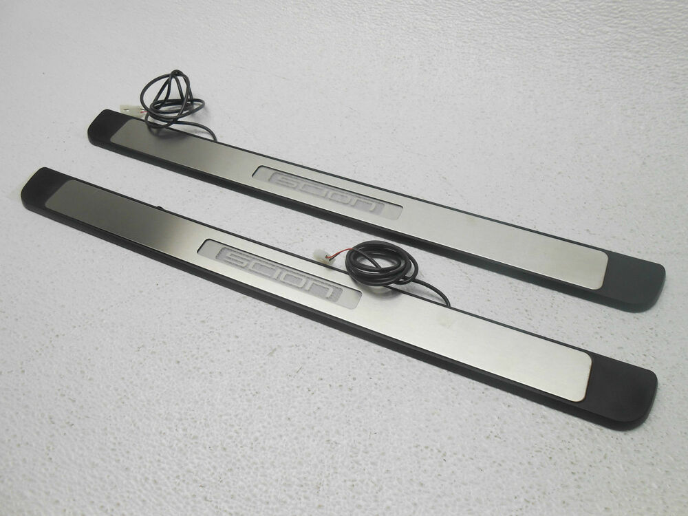Front Door Sill Plates Plate Kit Lighted Scion Xd 2008 2010 Nice Oem Ebay
