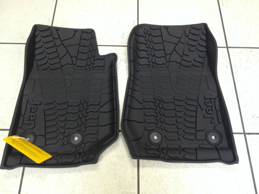 Weather Mats For Your Car >> BLACK RUBBER SLUSH (WINTER) FLOOR MATS 2014-15 JEEP WRANGLER 2 DOOR. BRAND NEW! | eBay