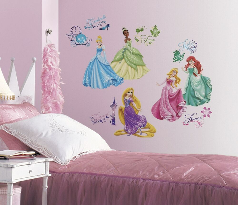 Disney princess wall decals new princesses royal debut for Girls murals