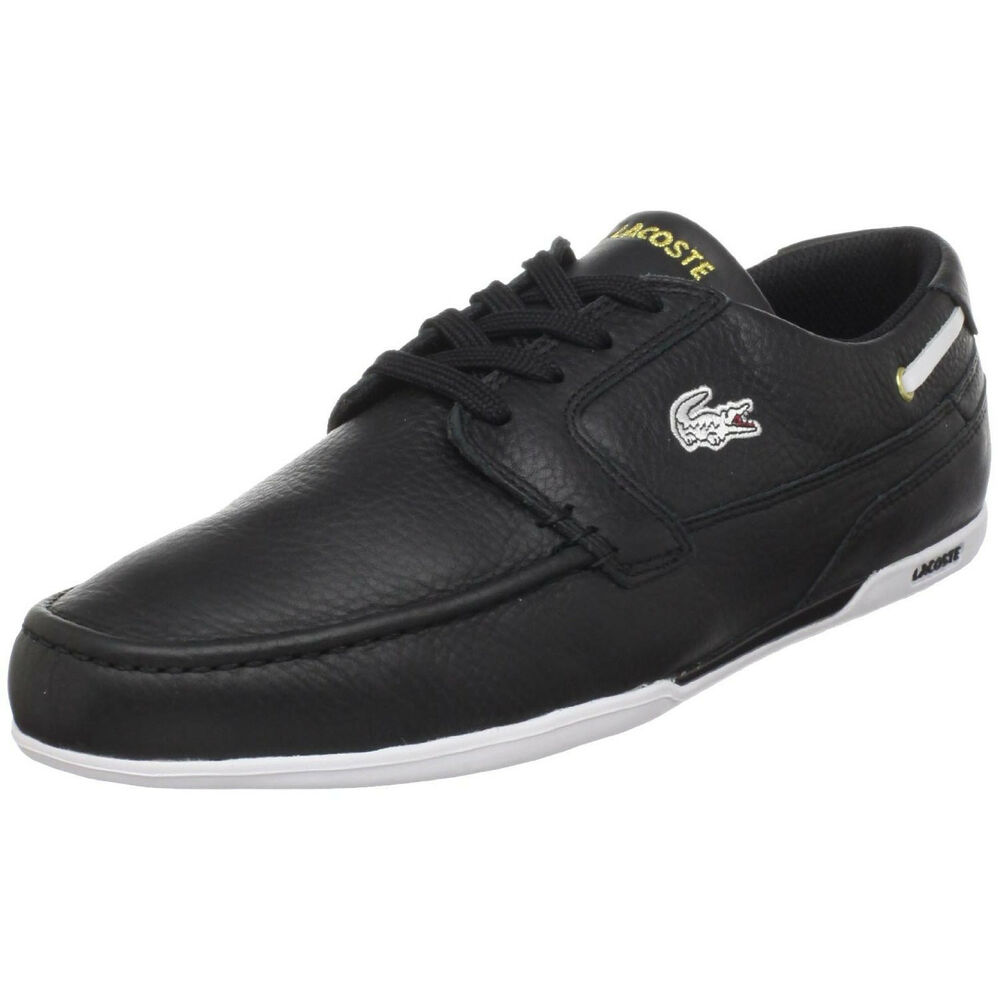 037758d41ebb Details about lacoste dreyfus ap mens sport casual leather boat shoes black  gold size jpg 1000x1000