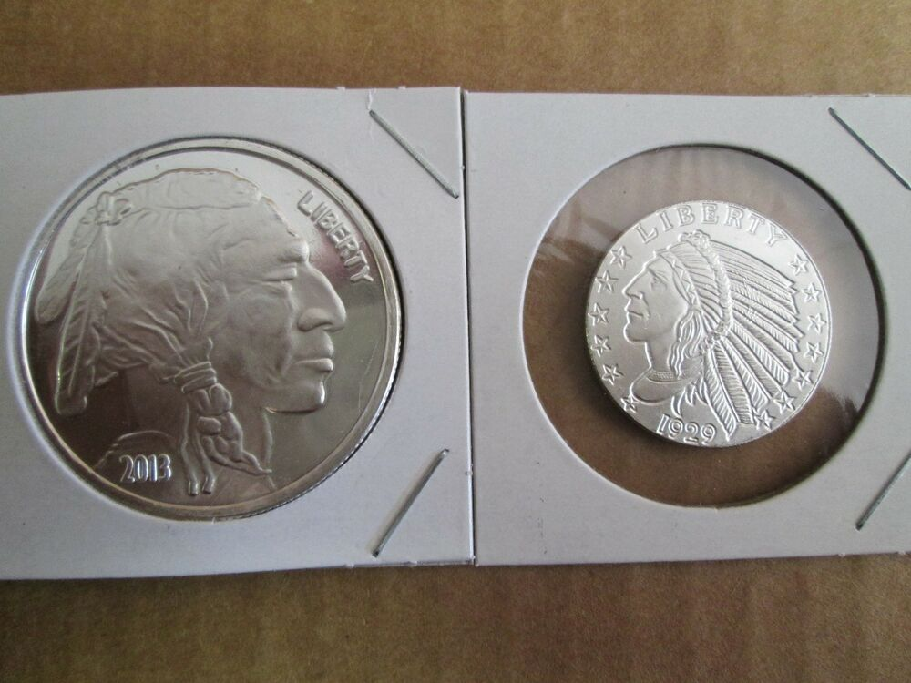 1 1 4 Oz 999 Fine Silver Buffalo Indian Round Coin Ebay
