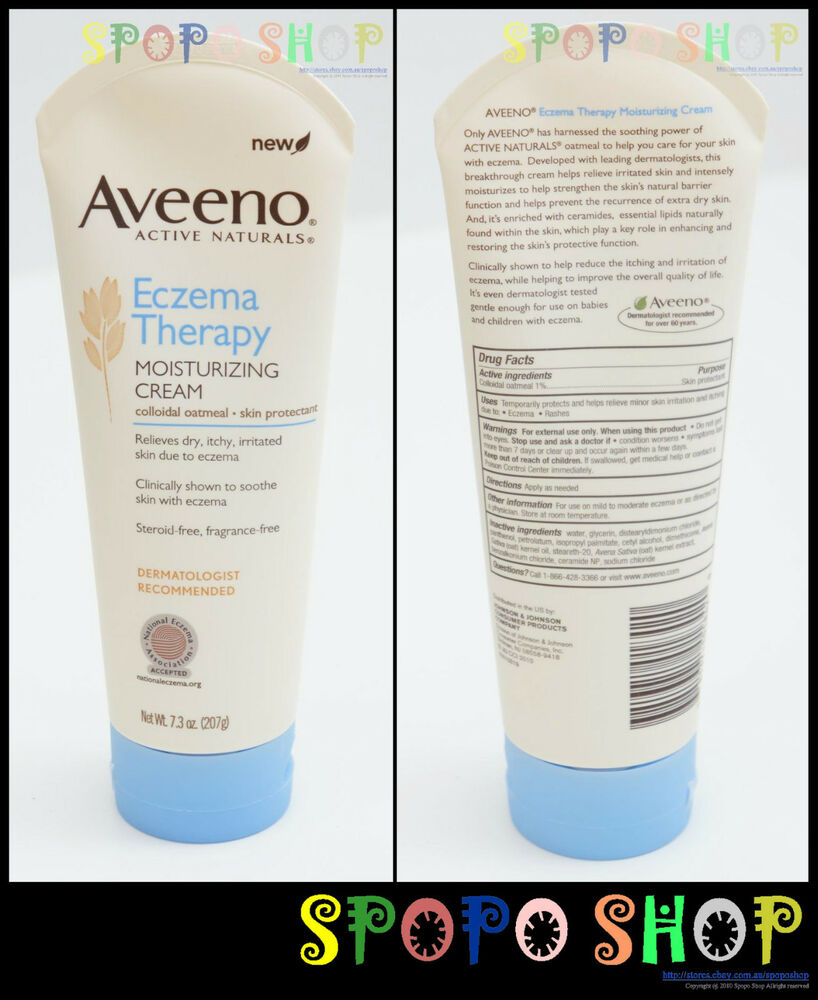 Aveeno Active Naturals Eczema Therapy Moisturizing Cream 7.3oz(207g) Twin Pack | eBay
