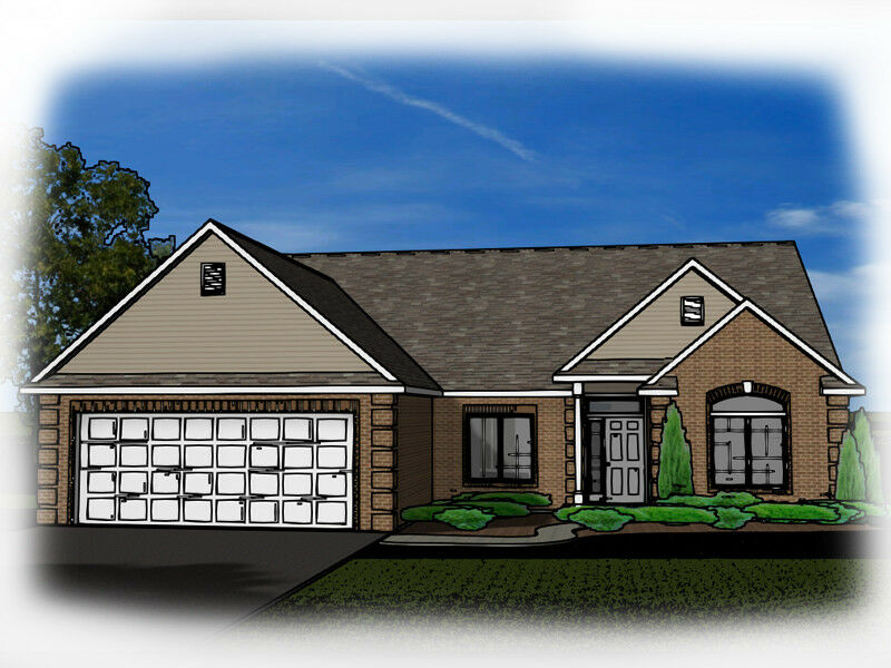 Custom home house plan 2 012 sf ranch blueprint plans 1342 for Custom ranch home plans