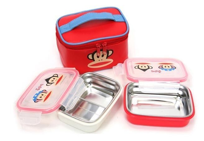 Bento Lunch Box Paul Frank Stainless Steel for Kids Bag ...