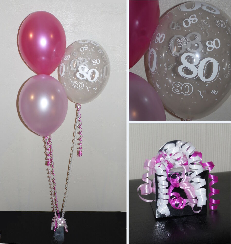 80th birthday helium balloons diy party decoration kit for Decoration 70th birthday