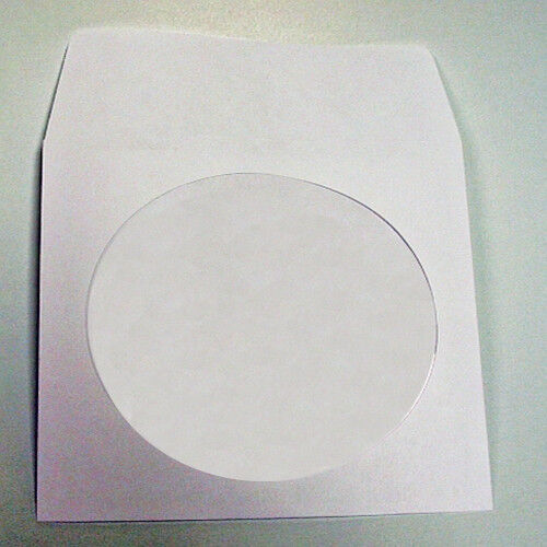 Cd paper sleeve with clear window and flap 100 count ebay for 100 paper cd sleeves with window flap