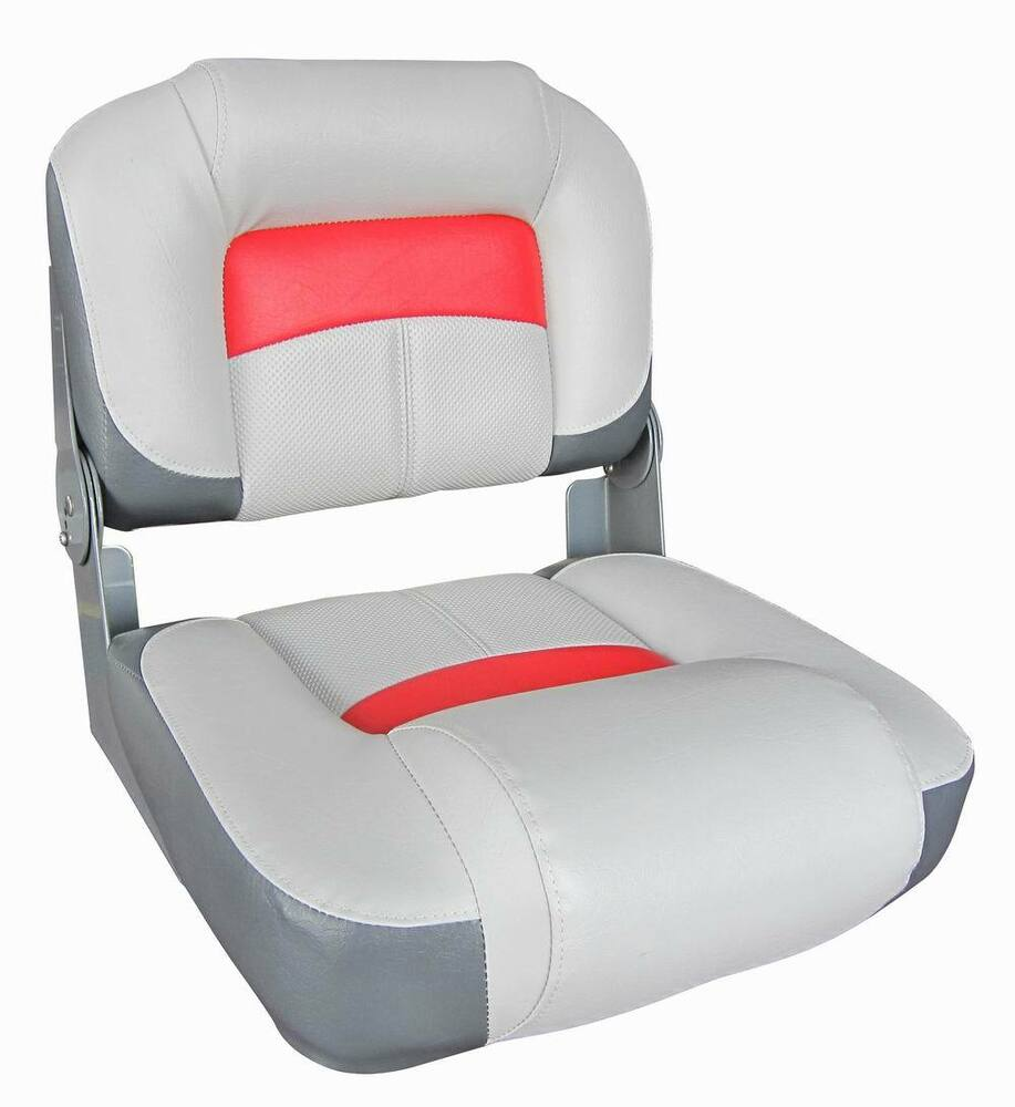 Boat Marine Bass Boat Fishing Centre Bench Seat Grey Red 75133 Yacht Speedboat Ebay