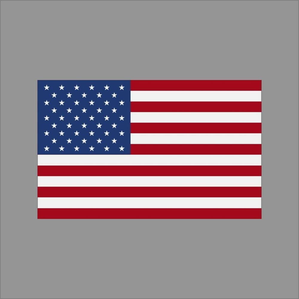 American Flag Patriotic Wall Car Window Vinyl Decal