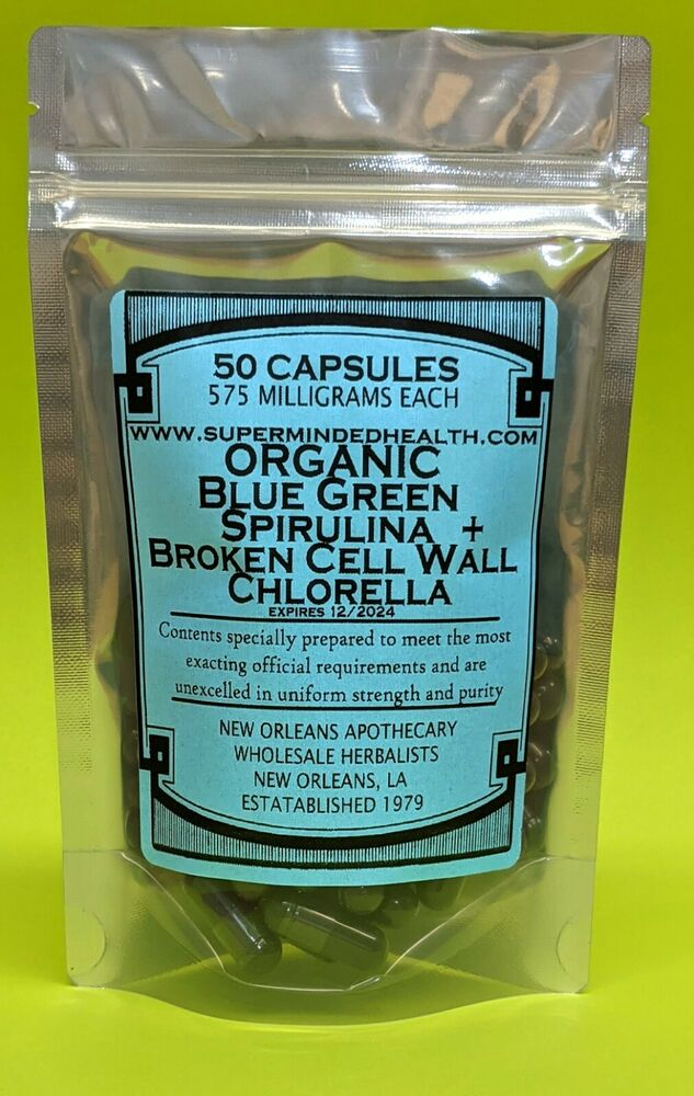 Organic Blue Green Spirulina Amp Broken Cell Wall Chlorella