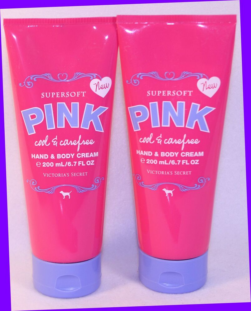 e21724fea4186 2 Victoria's Secret PINK Cool & Carefree Supersoft Hand & Body Cream Tube  6.7 oz 667526063461 | eBay