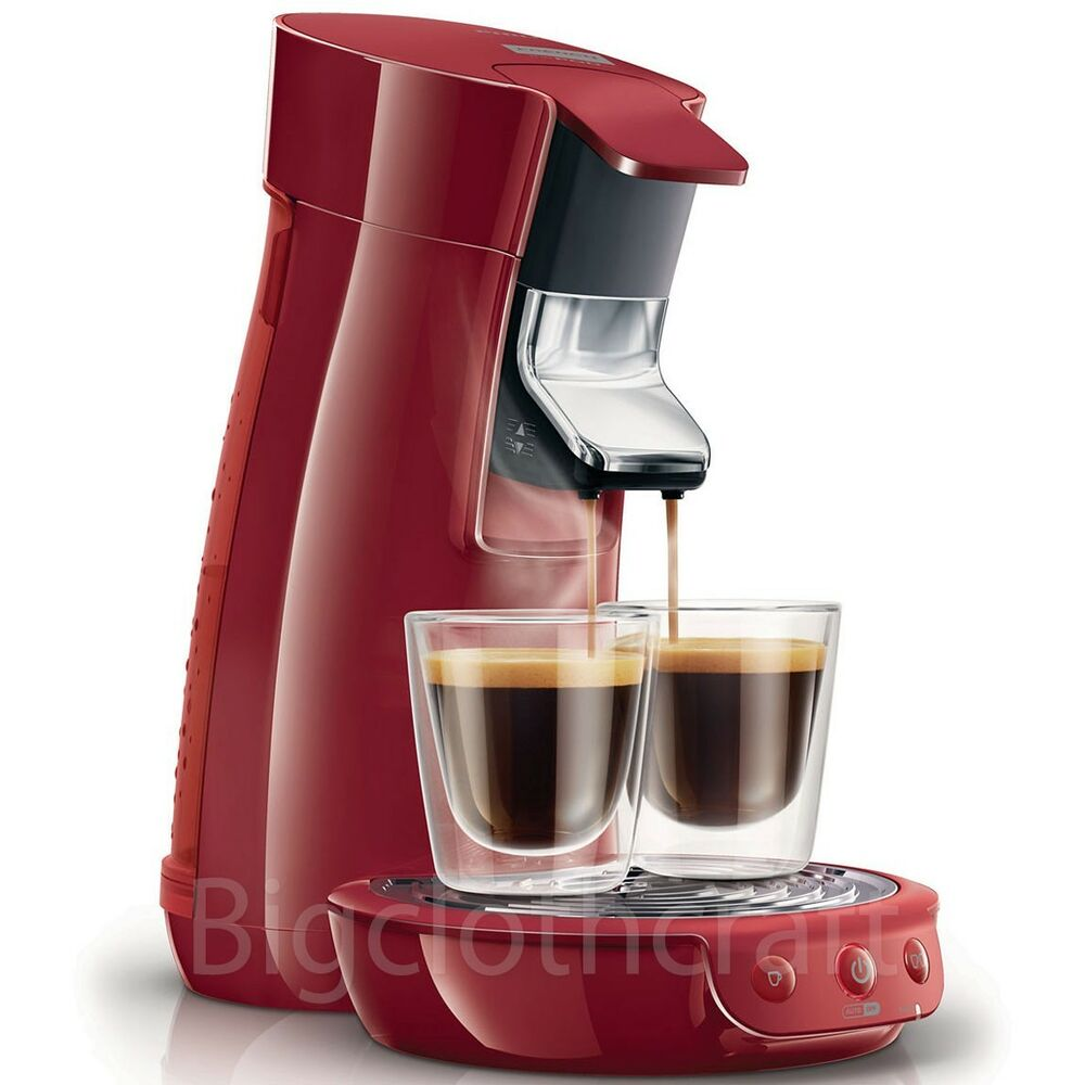 New Genuine Philips Senseo HD7825 Viva Cafe Coffee Expresso Machine Red 220V eBay