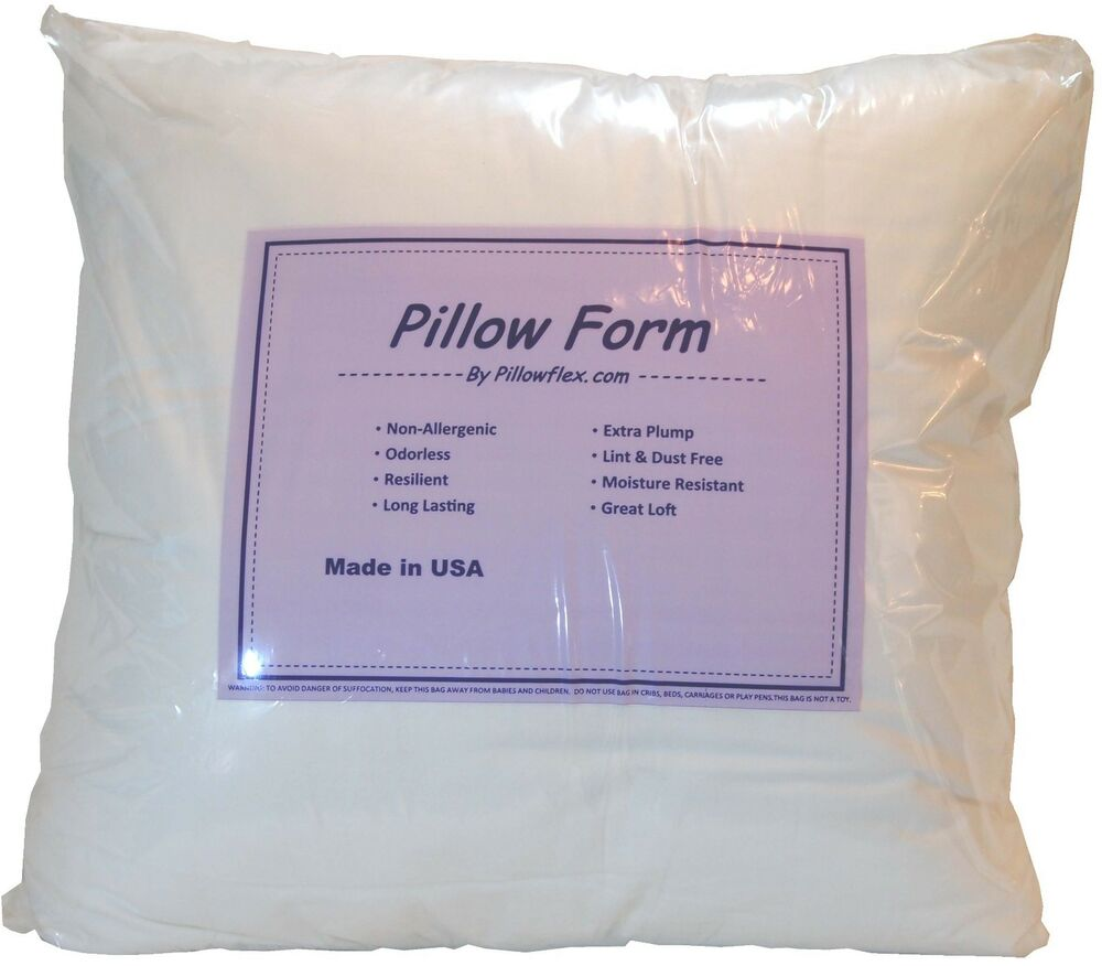 Throw Pillow Insert Sizes : Pillowflex Poly Cotton Pillow Form Inserts Square and Rectangle Machine Washable eBay