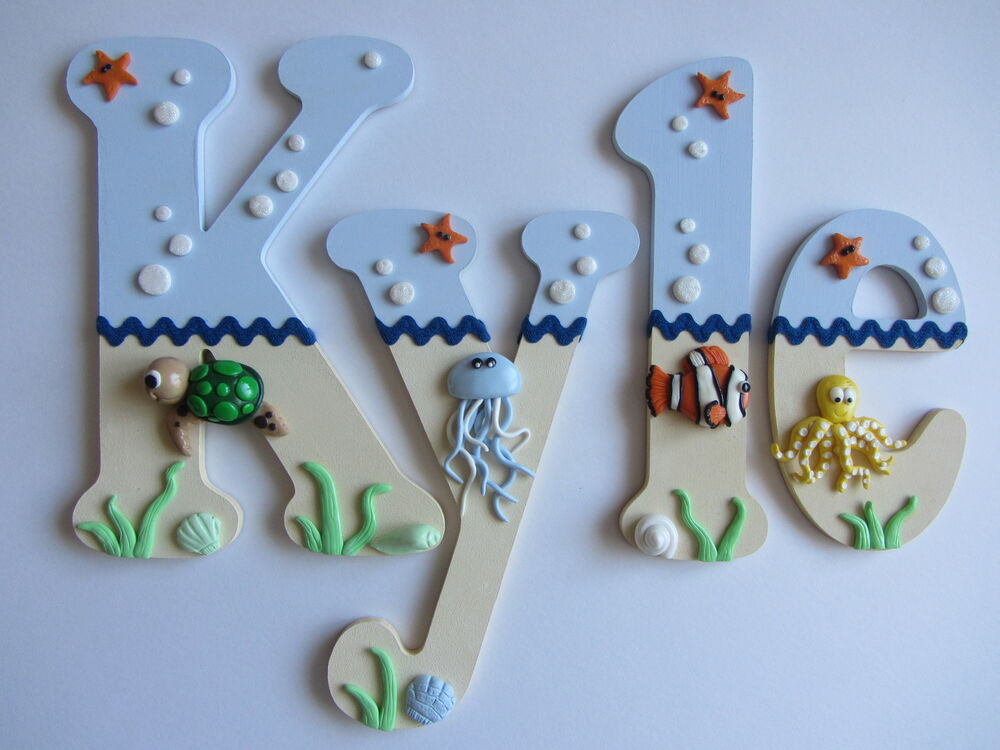 Wooden Nursery / Bedroom Letters / Under The Sea Themed