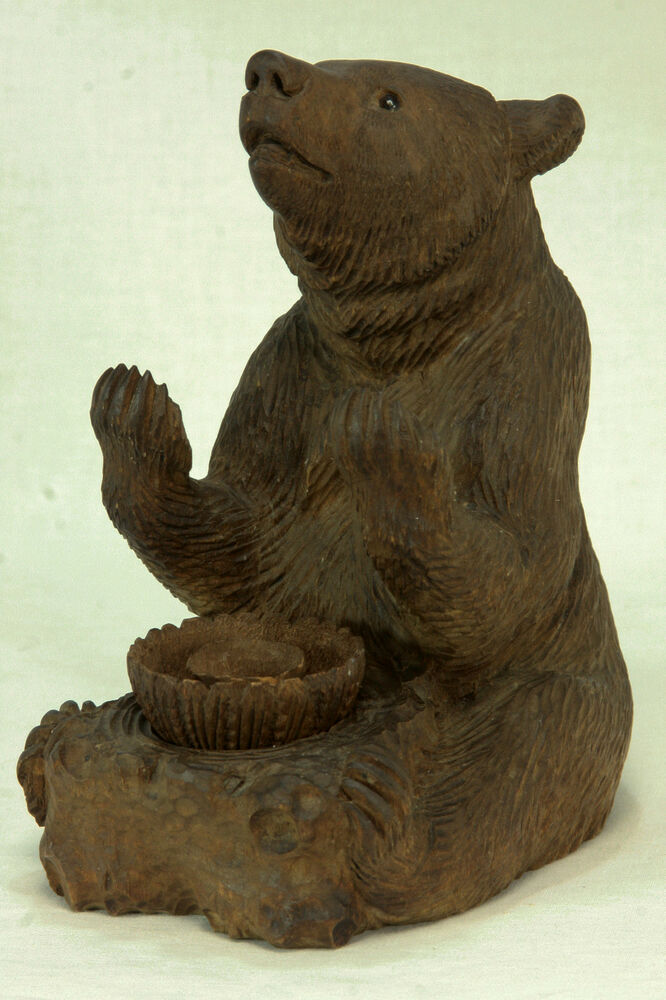 Antique german black forest bear inkwell c ebay