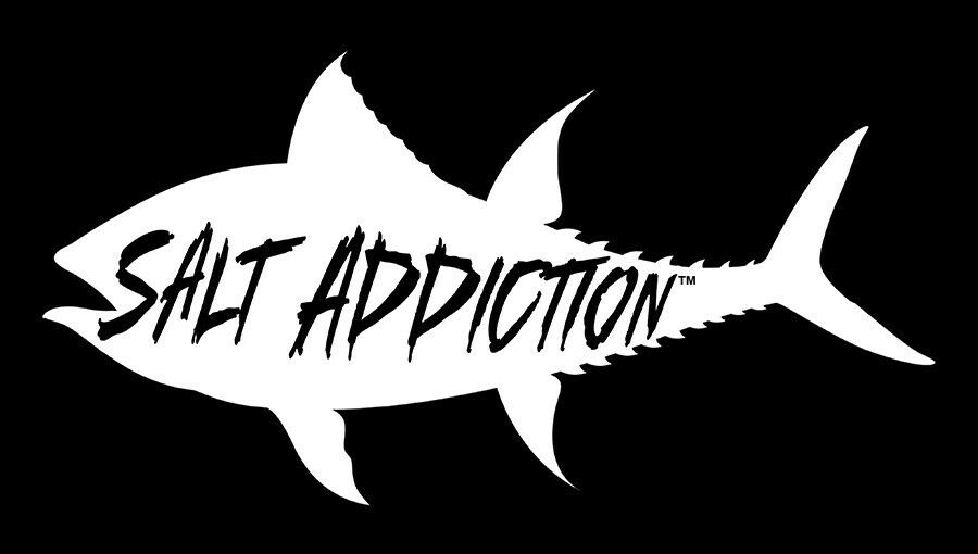 salt addiction tuna decal sticker saltwater fishing