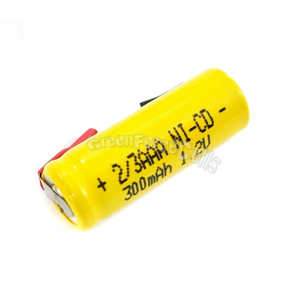 6 pcs 2 3 aaa 2 3aaa ni cd 300mah 1 2v rechargeable battery with tab yellow ebay. Black Bedroom Furniture Sets. Home Design Ideas