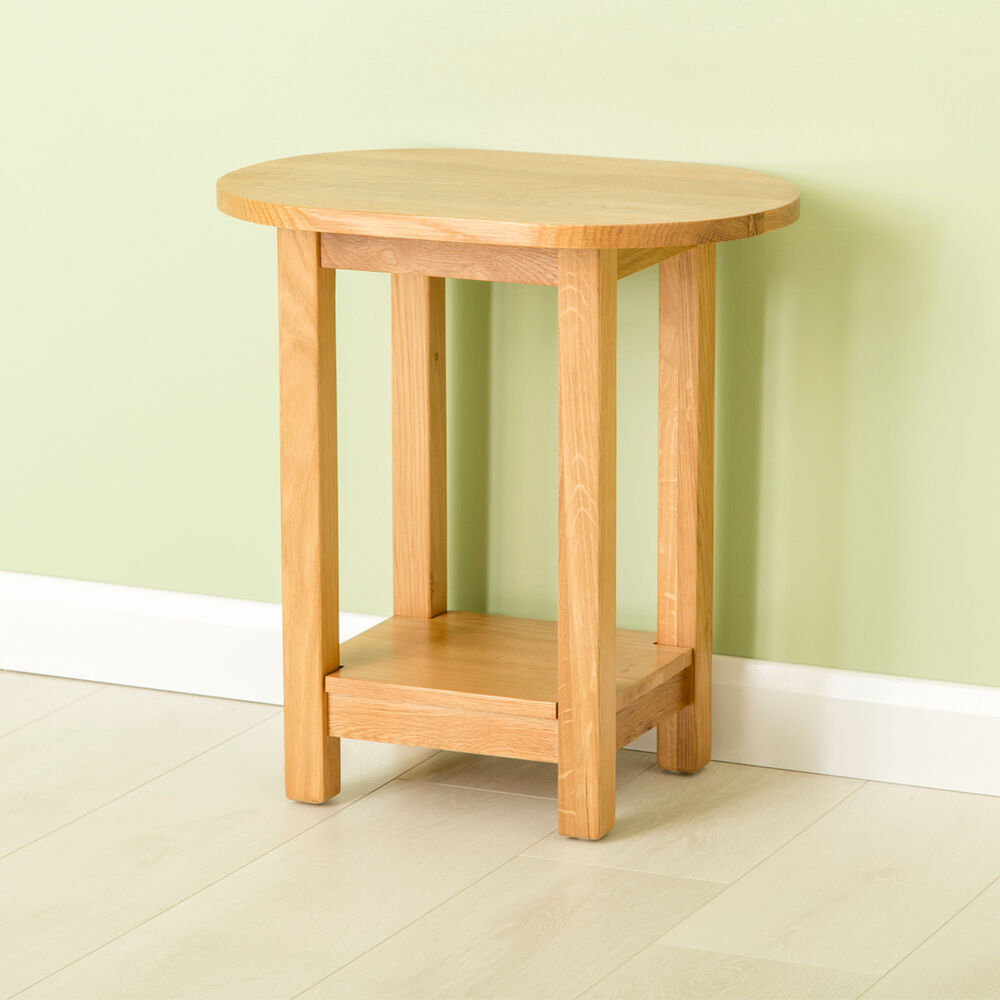 Oval Oak Coffee Table Uk: Carne Oak Oval Lamp Table / Solid Oak Side Table