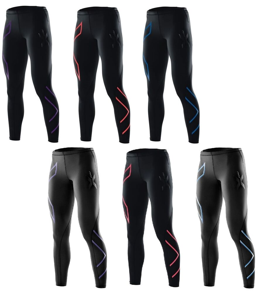 Excellent 2XU TR2 Womens Black Compression Running Sports Long Tights Bottoms
