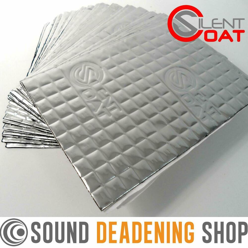 silent coat 2mm 30 sheets pack car van deadening sound proofing damping mat ebay. Black Bedroom Furniture Sets. Home Design Ideas
