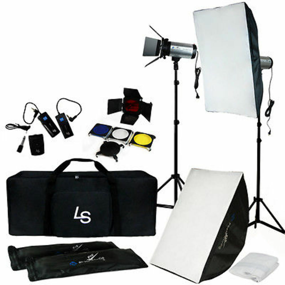 photography studio kit complete with photo lighting. Black Bedroom Furniture Sets. Home Design Ideas