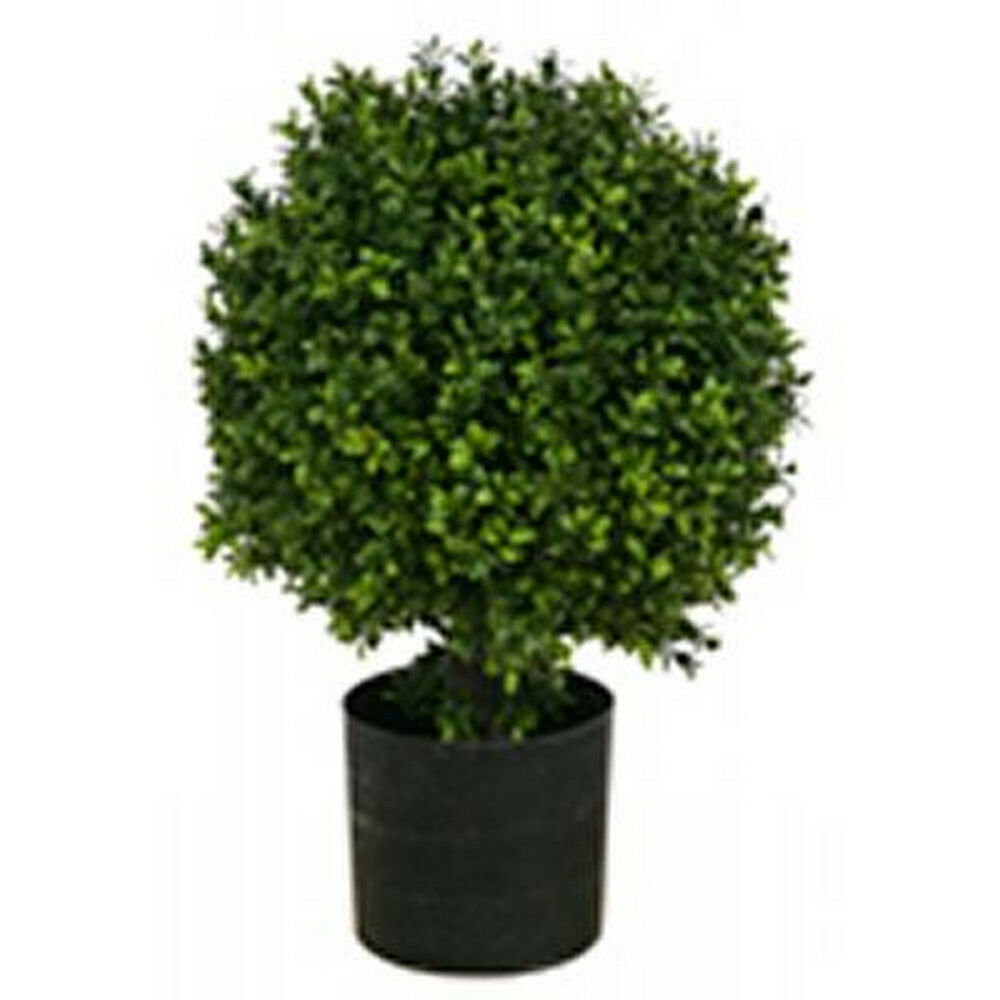 20 artificial boxwood uv bush ball tree outdoor plant for Outside plants and shrubs