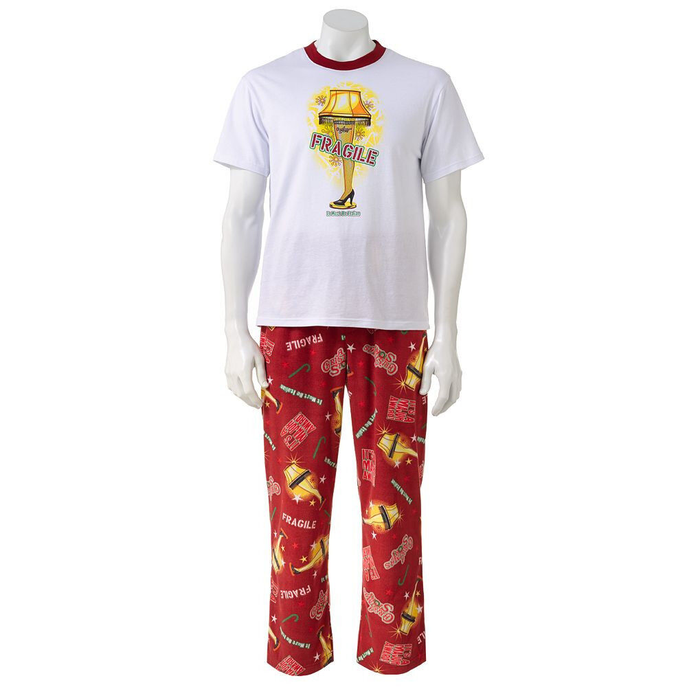 A Christmas Story Mens Pajama Set Lounge Pants Shirt Leg