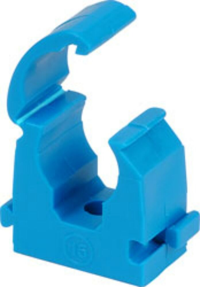 Water plumbing pipe hinged new mdpe clips 20mm 25mm 35mm for Water main pipe material