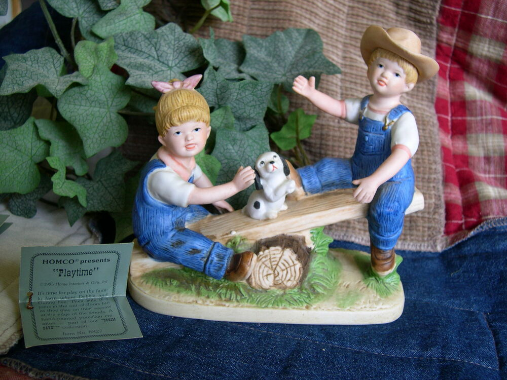 Home Interiors Homco Denim Days Playtime Figurine W Tag