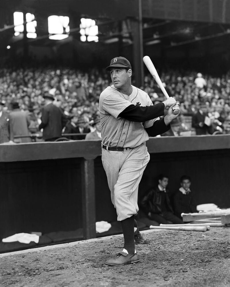 HANK GREENBERG TIGERS HALL OF FAMER AT BAT GLOSSY 8X10 ...